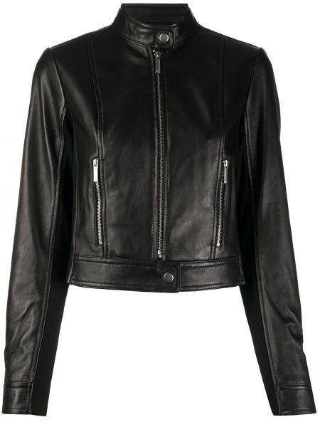 Черная кожаная куртка байкерская Michael Michael Kors