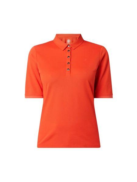 Pomarańczowy t-shirt bawełniany krótki rękaw Bogner