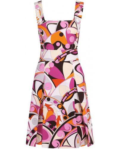Платье мини на пуговицах на бретелях Emilio Pucci