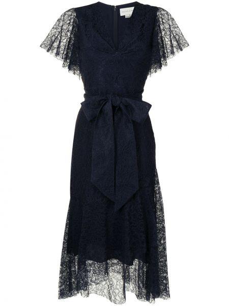 Niebieska sukienka koronkowa z wiskozy Sachin & Babi