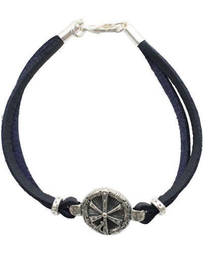 Кожаный браслет металлический замшевый Swanky