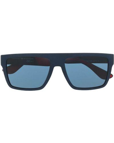 Солнцезащитные очки с логотипом - синие Tommy Hilfiger