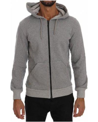 Bawełna szary sweter z kapturem Daniele Alessandrini