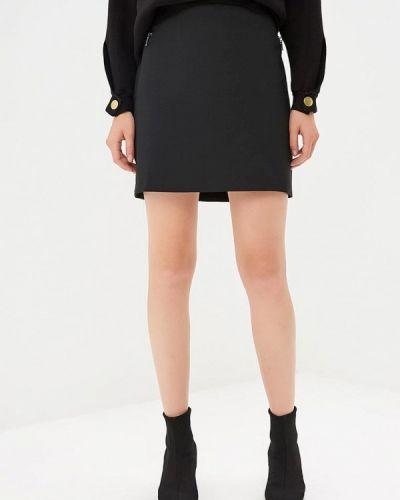 Черная юбка осенняя Naf Naf