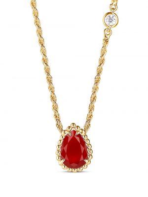 Żółty złoty naszyjnik z diamentem Boucheron