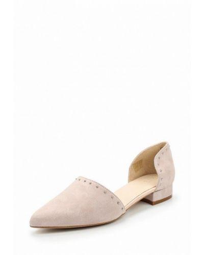 Бежевые замшевые туфли Zign