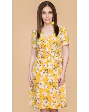 Летнее платье миди с цветочным принтом Belluche