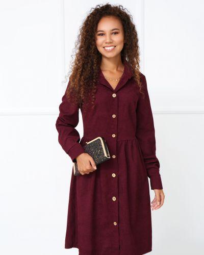 Повседневное платье миди - бордовое Fashion Girl