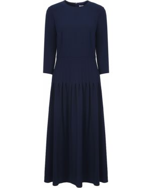 Шелковое платье - синее A La Russe