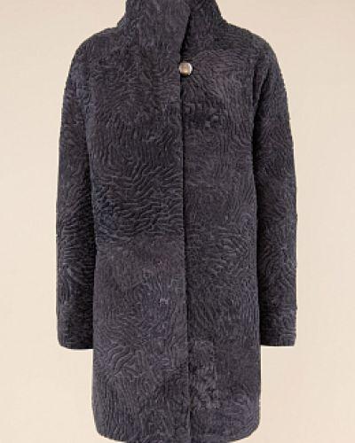 Пальто из овчины - серое Janifer