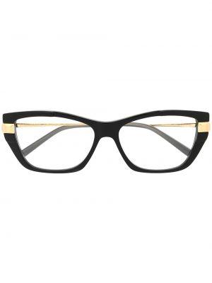 Черные очки кошачий глаз металлические прозрачные Boucheron Eyewear