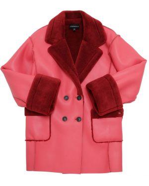 Płaszcz z kieszeniami z klapami Emporio Armani
