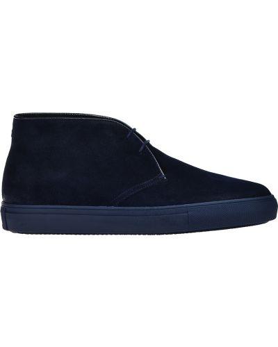 Ботинки осенние замшевые черные Fratelli Rossetti