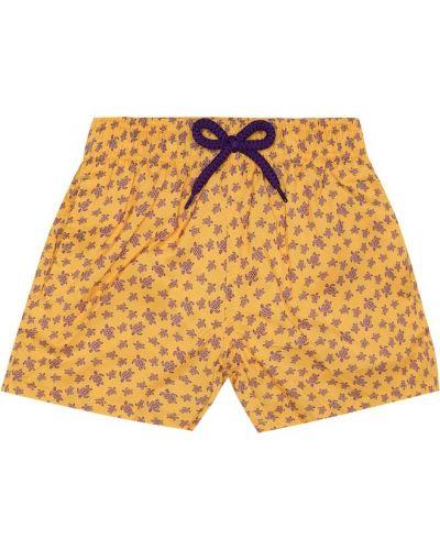 Желтые теплые шорты Vilebrequin Kids