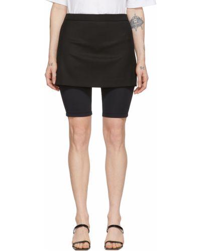 Czarna spódnica mini wełniana Pushbutton
