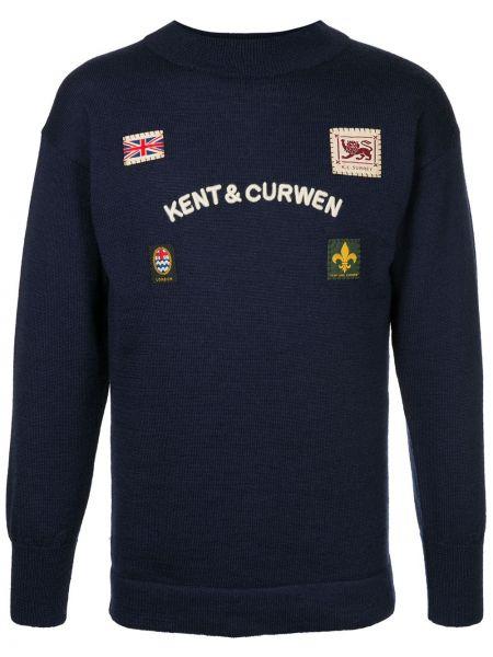 Niebieski sweter wełniany Kent & Curwen