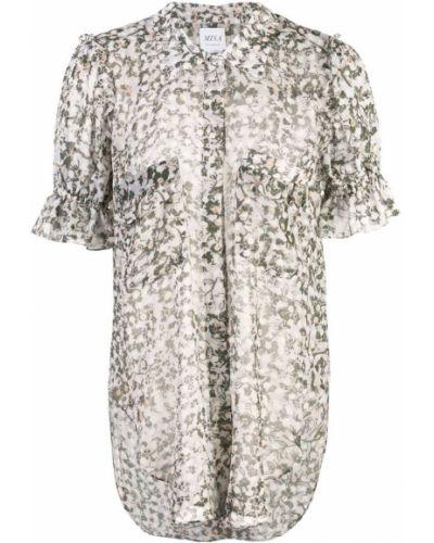 Рубашка с коротким рукавом с принтом с карманами Misa Los Angeles