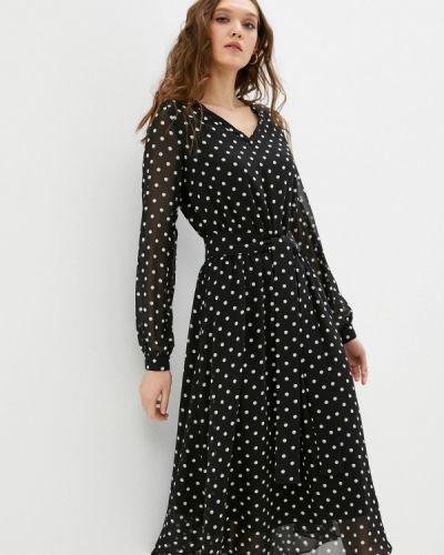 Прямое черное платье А-силуэта Trendyangel