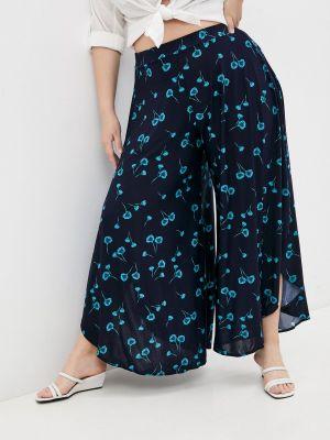 Широкие синие брюки Malena