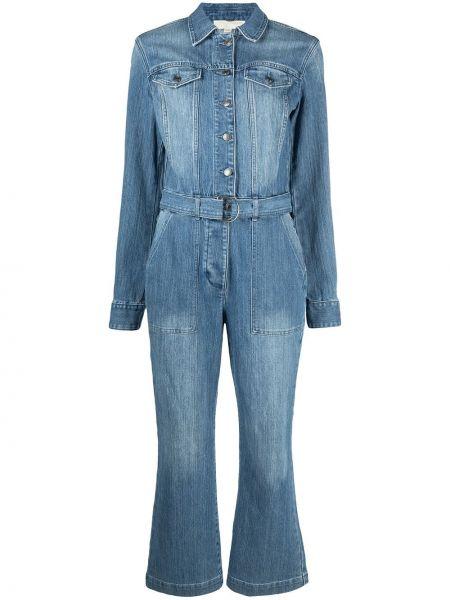 Bawełna niebieski dżinsowa kombinezon z długimi rękawami Michael Michael Kors