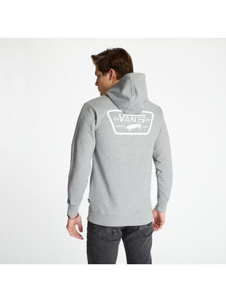 Серый пуловер для полных с заплатками Vans