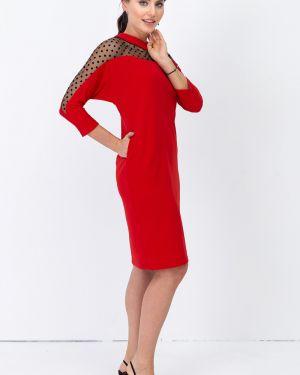 Трикотажное платье - красное Taiga