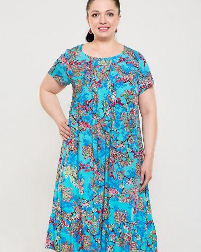 Платье из штапеля с цветочным принтом прима линия