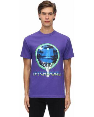 Fioletowy t-shirt bawełniany Psychworld