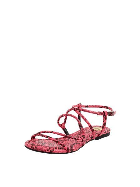 Sandały w paski - różowe Buffalo