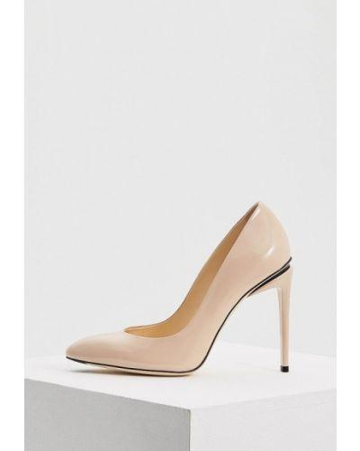 Туфли-лодочки кожаные на каблуке Fabi