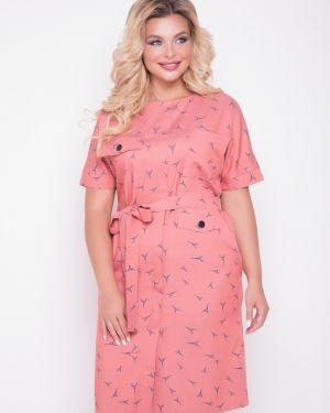 Джинсовое платье с поясом платье-сарафан тм леди агата
