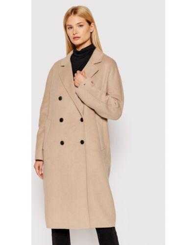 Beżowy płaszcz wełniany Tommy Hilfiger