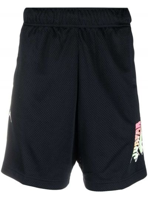 Черные шорты с карманами сетчатые с принтом Jordan