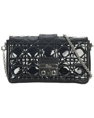 Czarny łańcuszek skórzany Dior Vintage