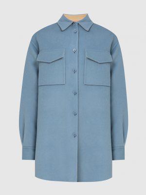 Синее шерстяное пальто Emilio Pucci
