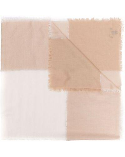 Biały szalik z jedwabiu Loro Piana