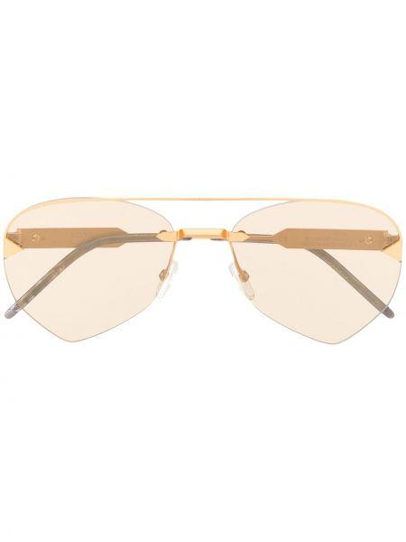 Złote żółte okulary So.ya