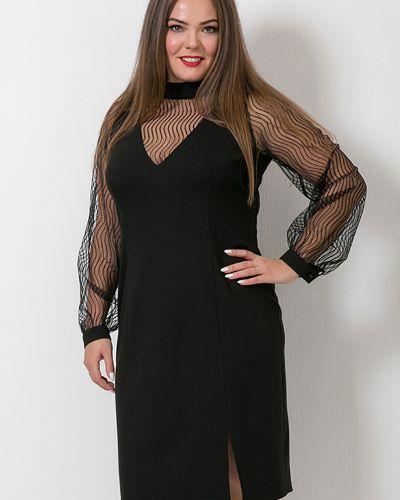 С рукавами трикотажное платье-футляр новогоднее Modellos