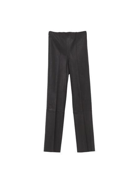 Czarne spodnie skorzane By Malene Birger