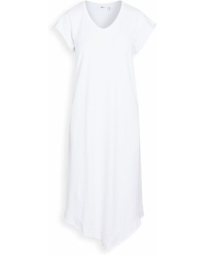 Трикотажное белое платье винтажное Wilt