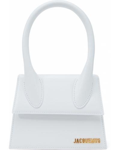 Кожаная белая сумка на плечо Jacquemus