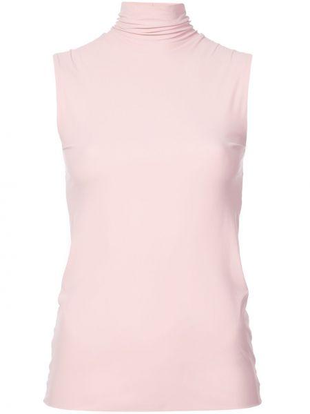 Текстильный розовый спортивный топ Dresshirt