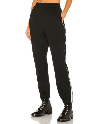 Markowe czarny joggery z kieszeniami w połowie kolana Rag & Bone