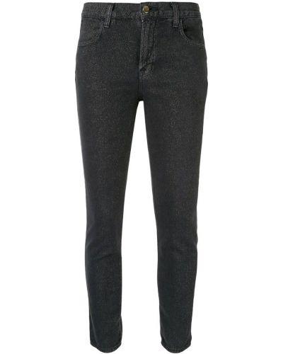 Джинсы-скинни с карманами черные J Brand