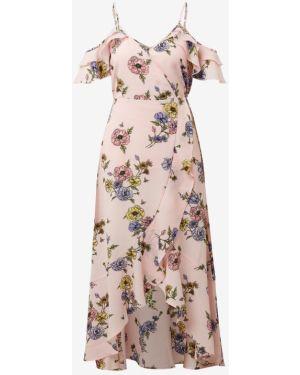 Платье с цветочным принтом расклешенное Tom Tailor