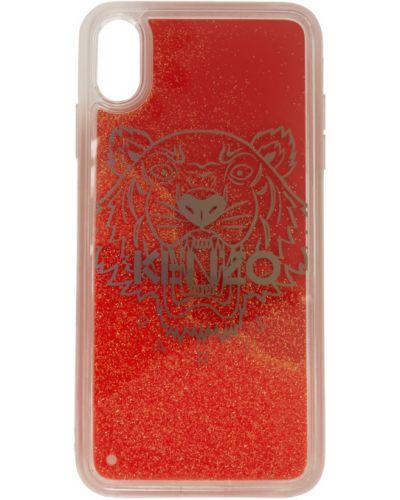 Красная ключница прозрачная свободного кроя Kenzo