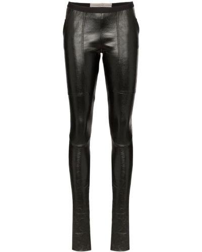 Черные леггинсы эластичные Rick Owens