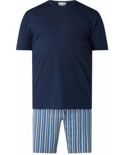 Piżamy z szortami bawełniana krótki rękaw w paski Mey