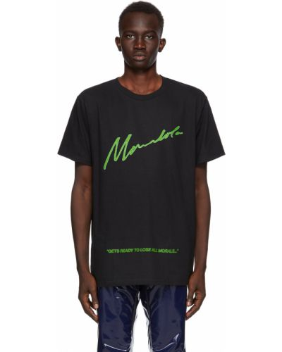 Czarna t-shirt krótki rękaw Mowalola