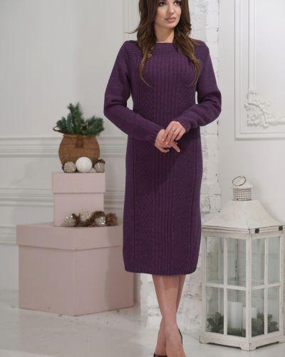 Фиолетовое платье шерстяное Vay